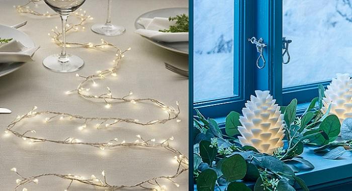 guirnaldas decorar tu mesa de navidad con ikea