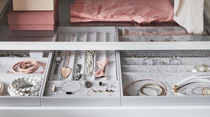 los organizadores de armarios ikea para joyas relojes y complementos