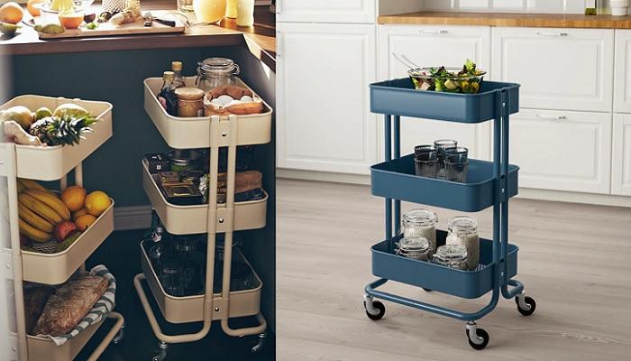 Muebles auxiliares de cocina Ikea con soluciones de almacenaje